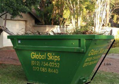 3m3 Skip with garden waste